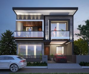 Contemporary Residential Elevation